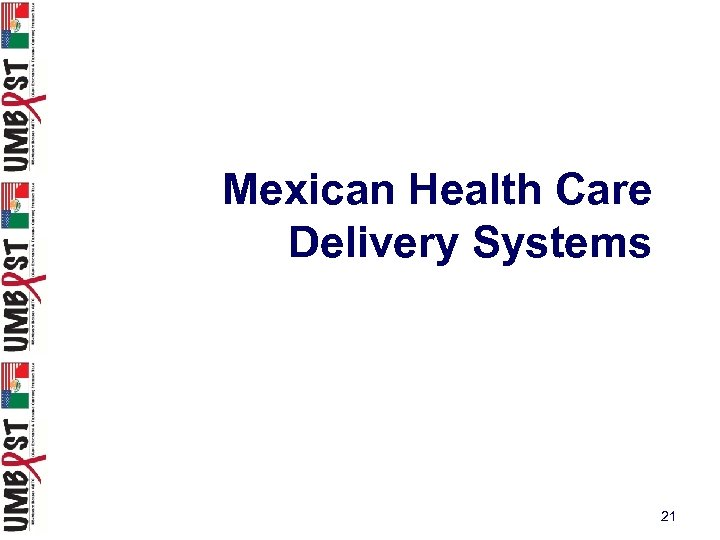 Mexican Health Care Delivery Systems 21