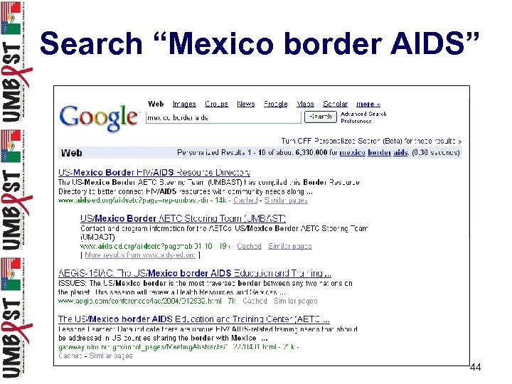 """Search """"Mexico border AIDS"""" 44"""