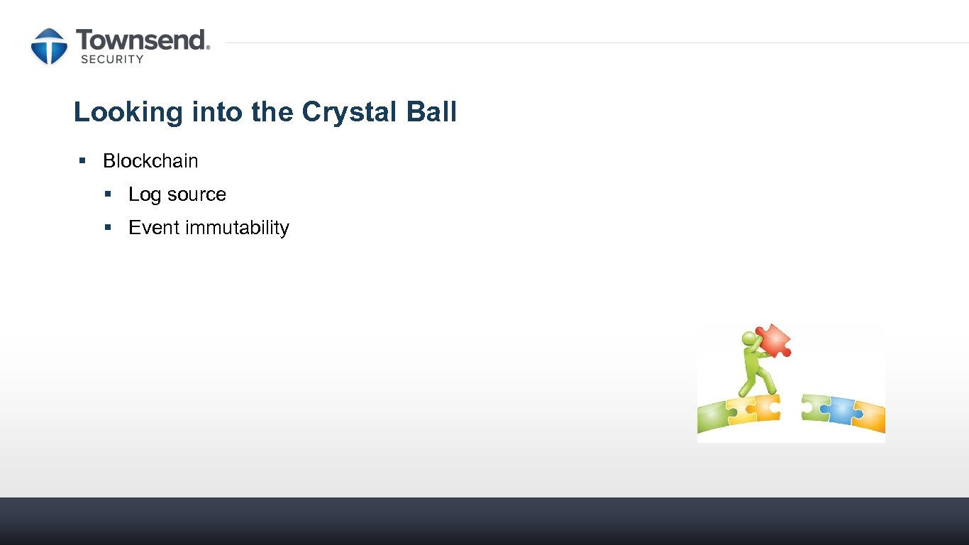 Looking into the Crystal Ball § Blockchain § Log source § Event immutability