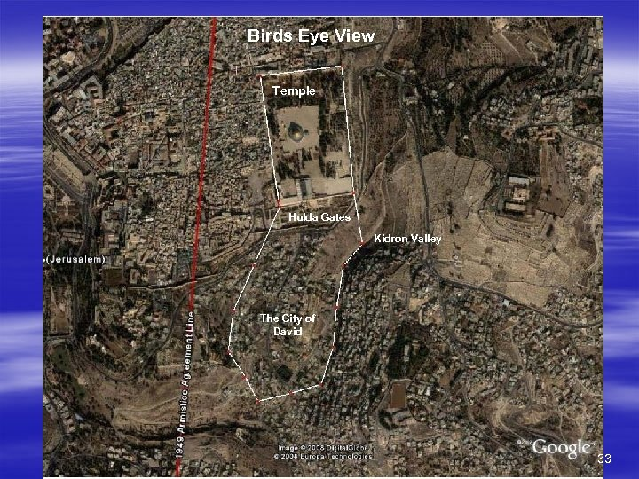 Birds Eye View Temple Hulda Gates Kidron Valley The City of David 33