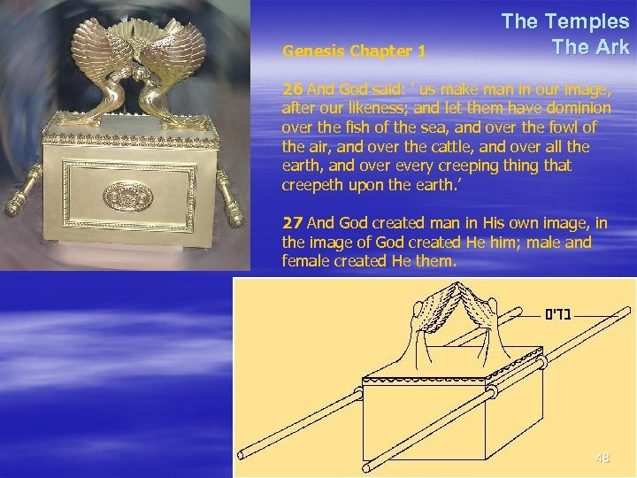 Genesis Chapter 1 The Temples The Ark 26 And God said: ' us make