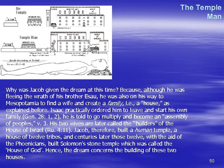 The Temple Man Why was Jacob given the dream at this time? Because, although