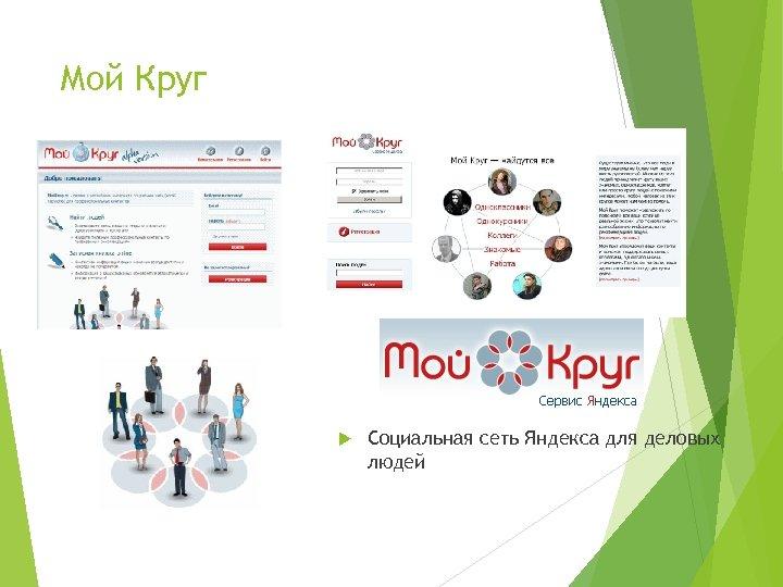 Мой Круг Социальная сеть Яндекса для деловых людей