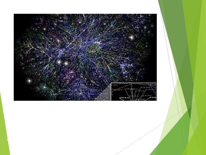 Примерное графическое изображение связей между сетями Интернета. Изображены только связи между серверами.