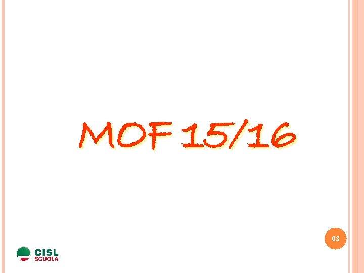 MOF 15/16 63