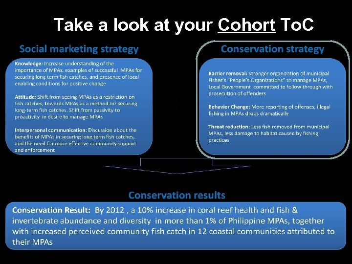 Take a look at your Cohort To. C