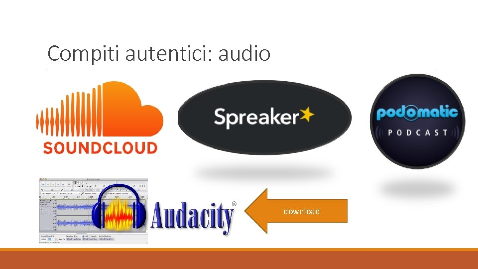 Compiti autentici: audio download