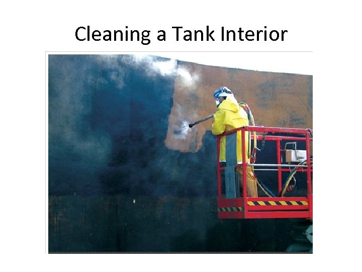 Cleaning a Tank Interior