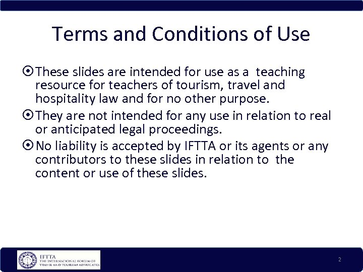 Terms and Conditions of Use These slides are intended for use as a teaching
