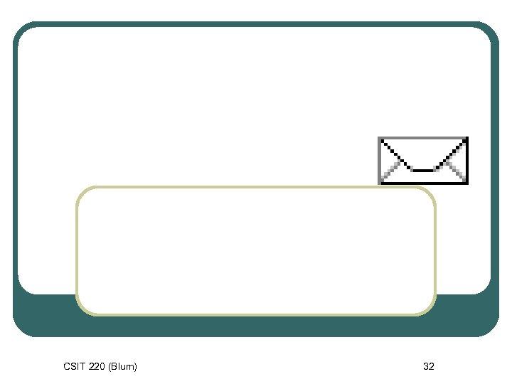 CSIT 220 (Blum) 32