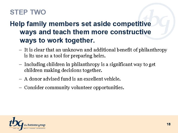 STEP TWO Help family members set aside competitive ways and teach them more constructive
