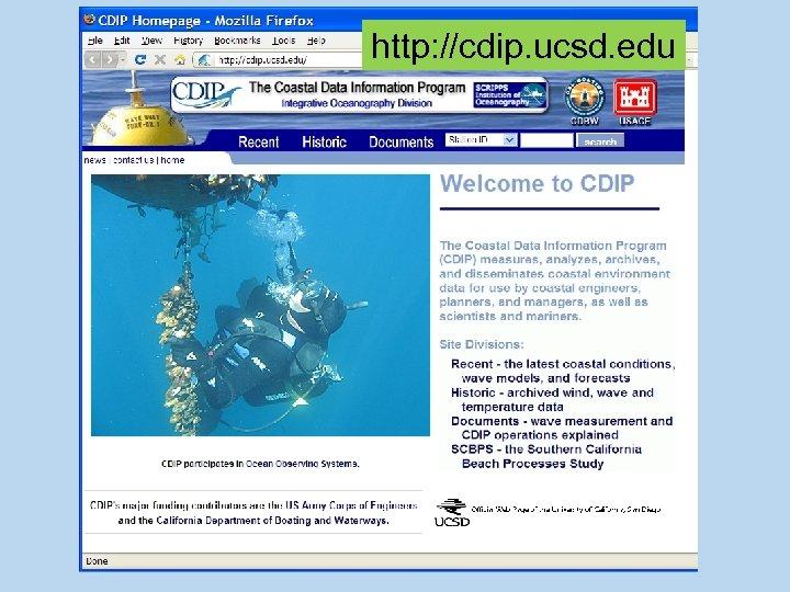 http: //cdip. ucsd. edu