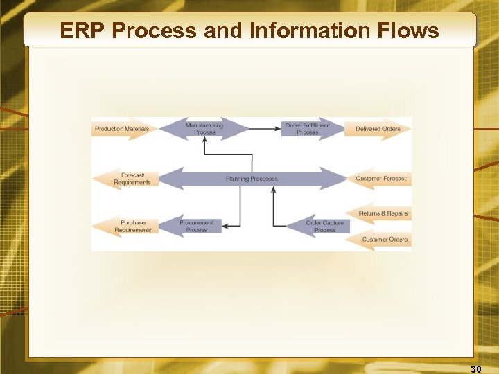 ERP Process and Information Flows 30