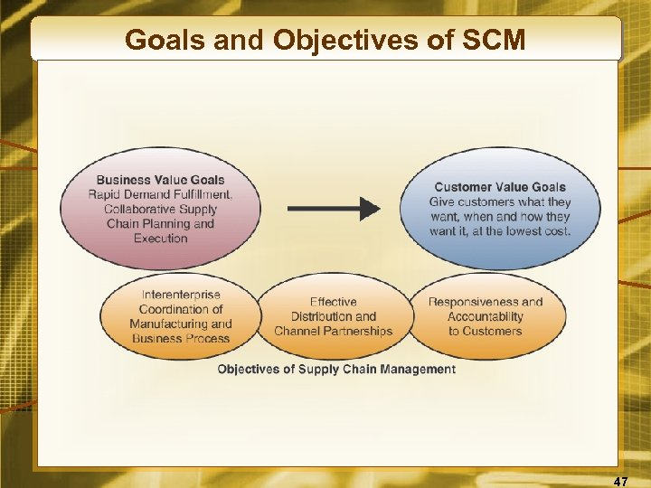 Goals and Objectives of SCM 47