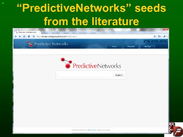 """""""Predictive. Networks"""" seeds from the literature"""