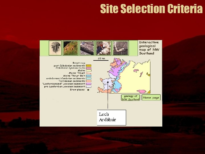 Site Selection Criteria