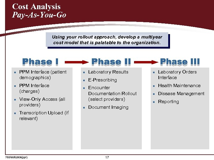 Cost Analysis Pay-As-You-Go Using your rollout approach, develop a multiyear cost model that is