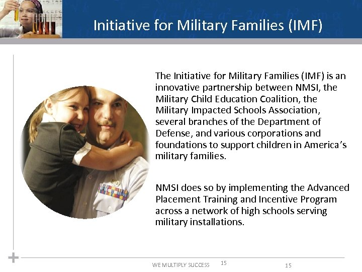 Initiative for Military Families (IMF) The Initiative for Military Families (IMF) is an innovative