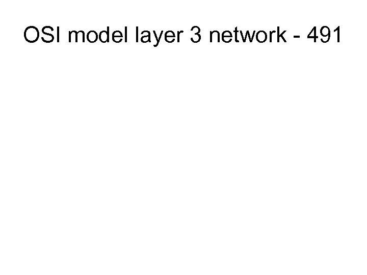 OSI model layer 3 network - 491