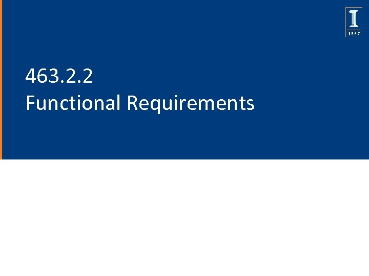 463. 2. 2 Functional Requirements