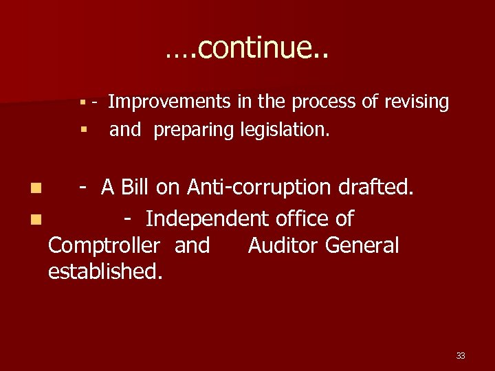 …. continue. . § - Improvements in the process of revising § and preparing