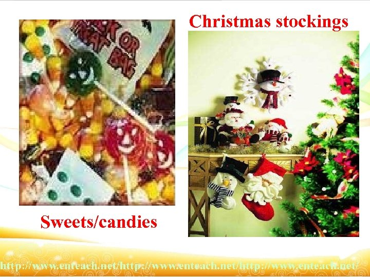 Christmas stockings Sweets/candies