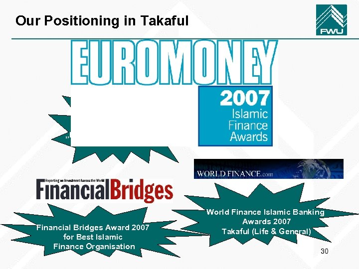 """Our Positioning in Takaful FWU was the winner in the category """"Best Life Takaful"""