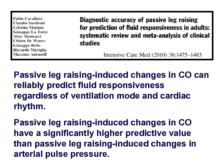 Passive leg raising-induced changes in CO can reliably predict fluid responsiveness regardless of ventilation