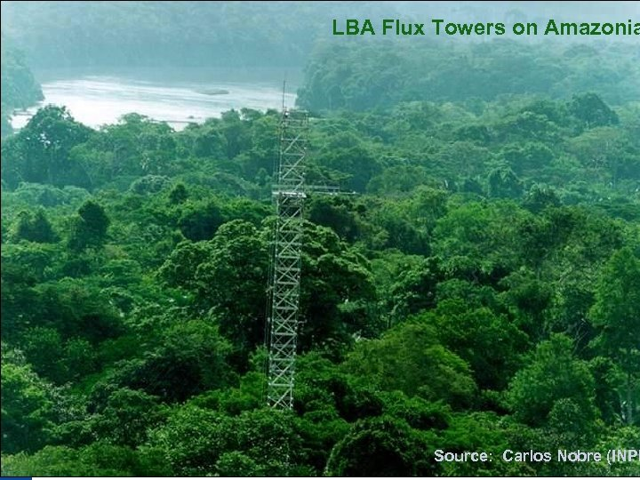 LBA Flux Towers on Amazonia Source: Carlos Nobre (INPE