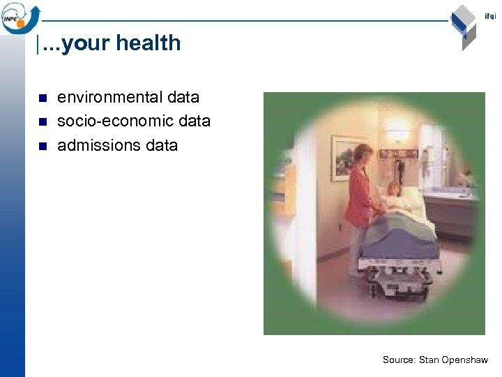. . . your health n n n environmental data socio-economic data admissions data