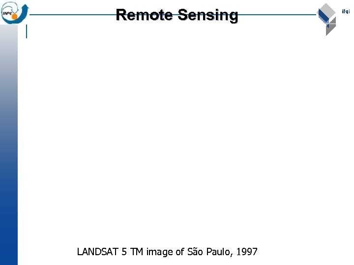 Remote Sensing LANDSAT 5 TM image of São Paulo, 1997