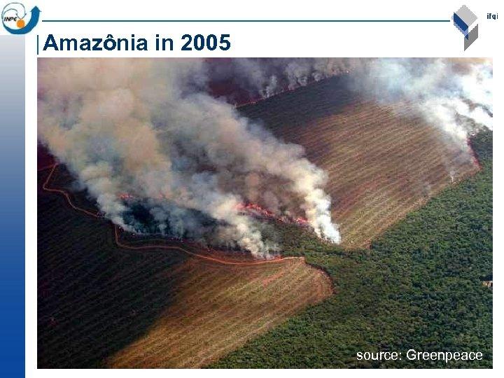 Amazônia in 2005 source: Greenpeace