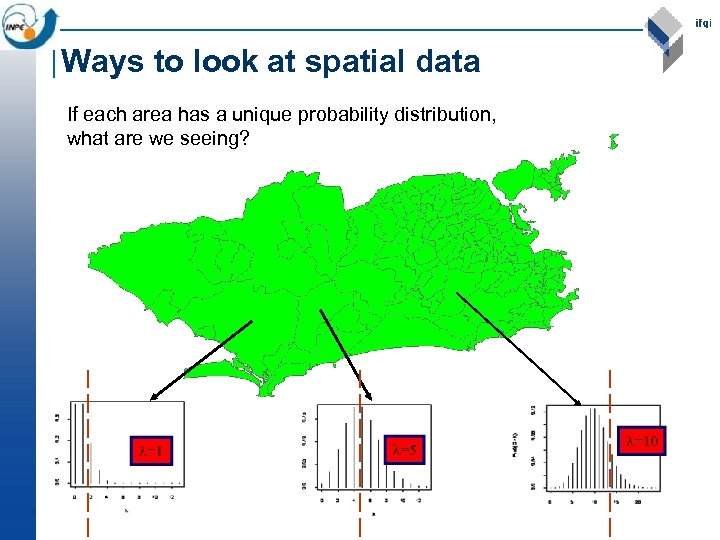 Ways to look at spatial data If each area has a unique probability distribution,