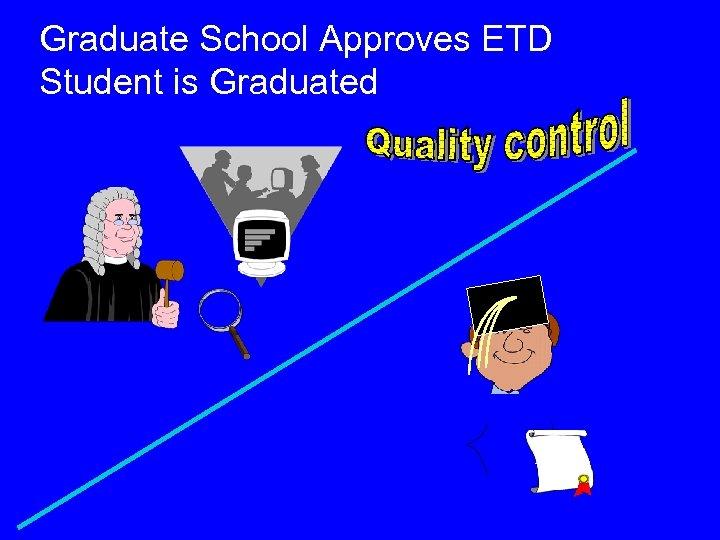 Graduate School Approves ETD Student is Graduated Ph. D.