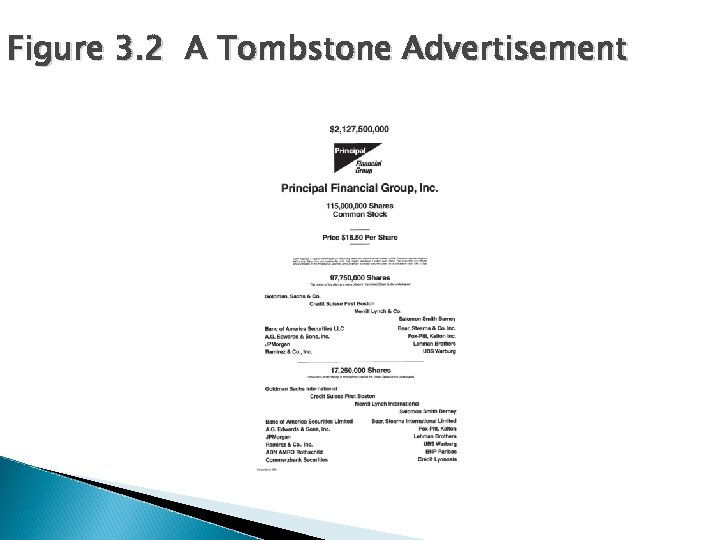 Figure 3. 2 A Tombstone Advertisement