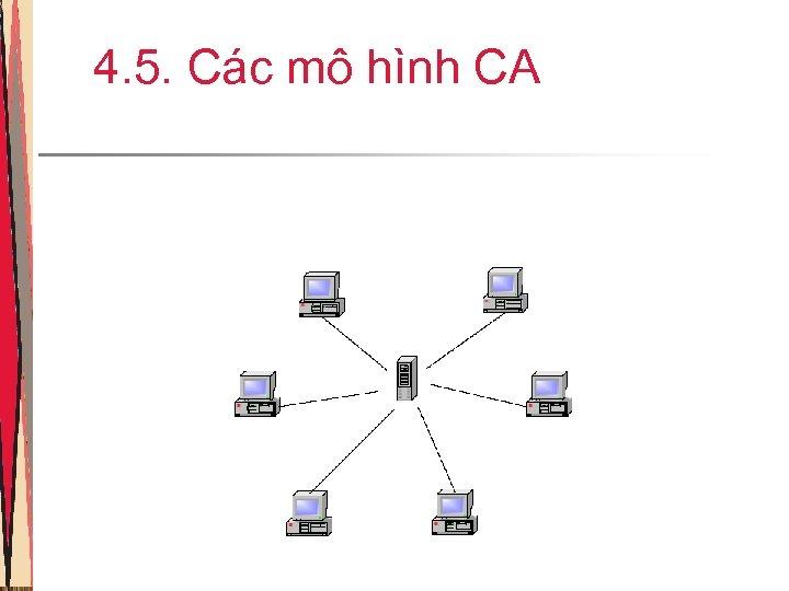 4. 5. Các mô hình CA