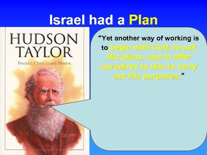 Israel had a Plan