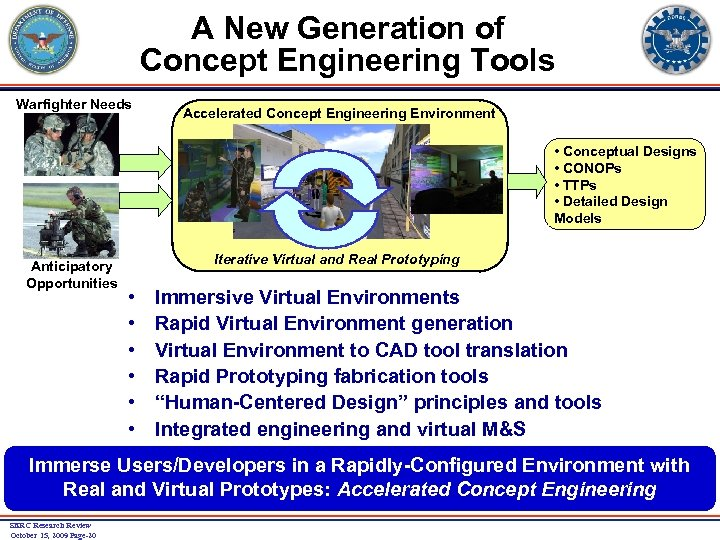 A New Generation of Concept Engineering Tools Warfighter Needs Accelerated Concept Engineering Environment •