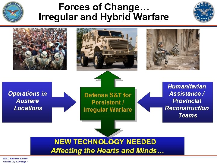 Forces of Change… Irregular and Hybrid Warfare Operations in Austere Locations Defense S&T for