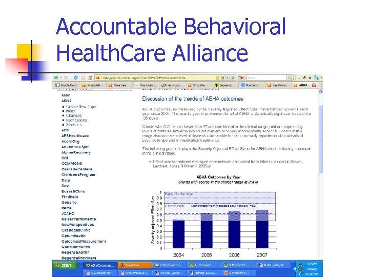 Accountable Behavioral Health. Care Alliance
