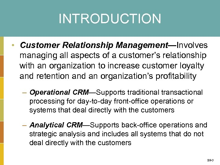 Business Plug-In B 9 Customer Relationship Management Mc