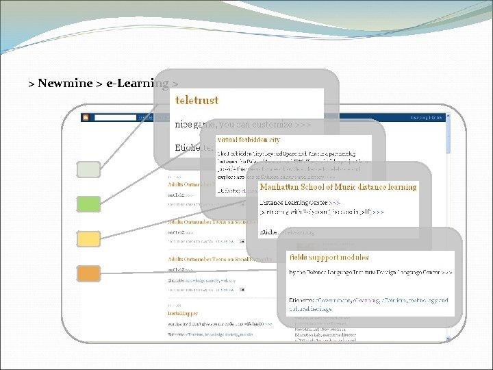 > Newmine > e-Learning >