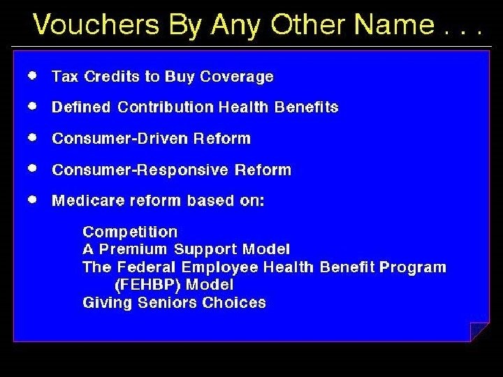Vouchers by Any Other Name…