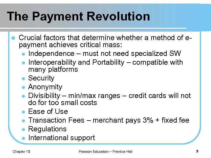The Payment Revolution l Crucial factors that determine whether a method of epayment achieves