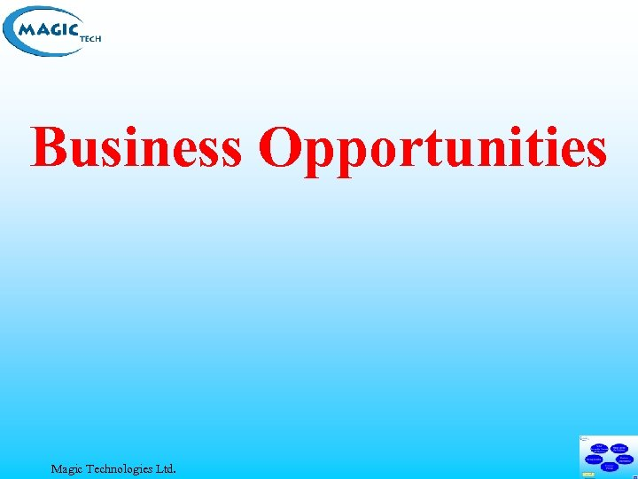 Business Opportunities Magic Technologies Ltd.