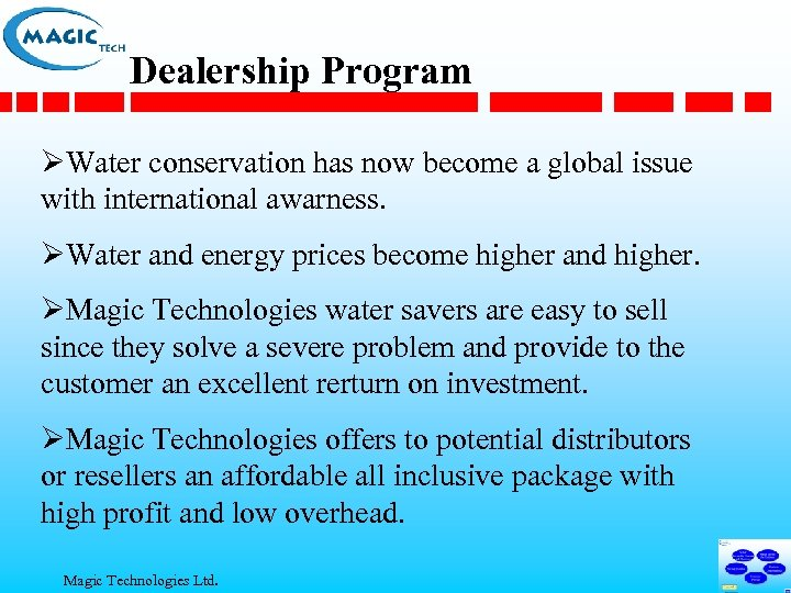 Dealership Program ØWater conservation has now become a global issue with international awarness. ØWater