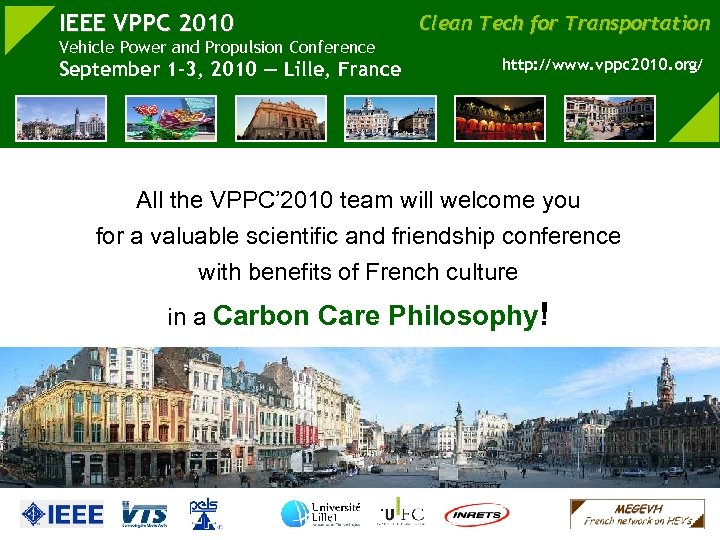 IEEE VPPC 2010 Vehicle Power and Propulsion Conference September 1 -3, 2010 — Lille,