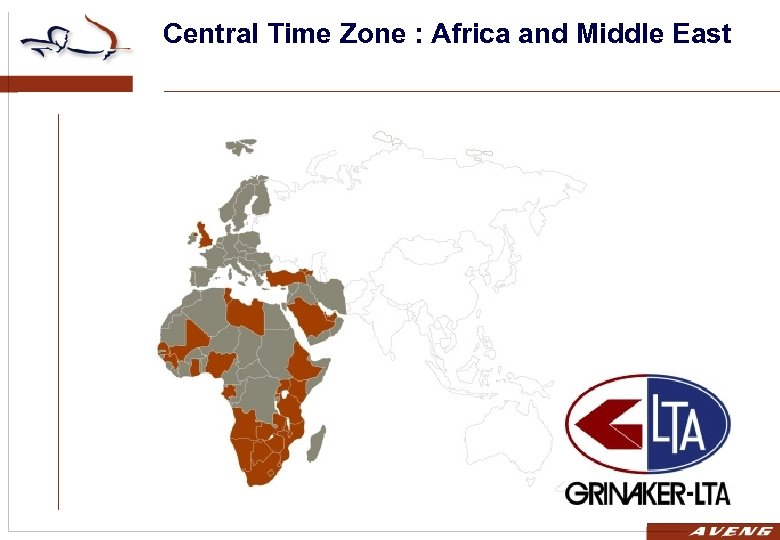 Central Time Zone : Africa and Middle East