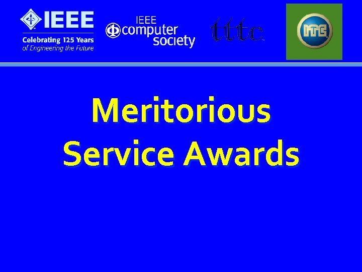 Meritorious Service Awards
