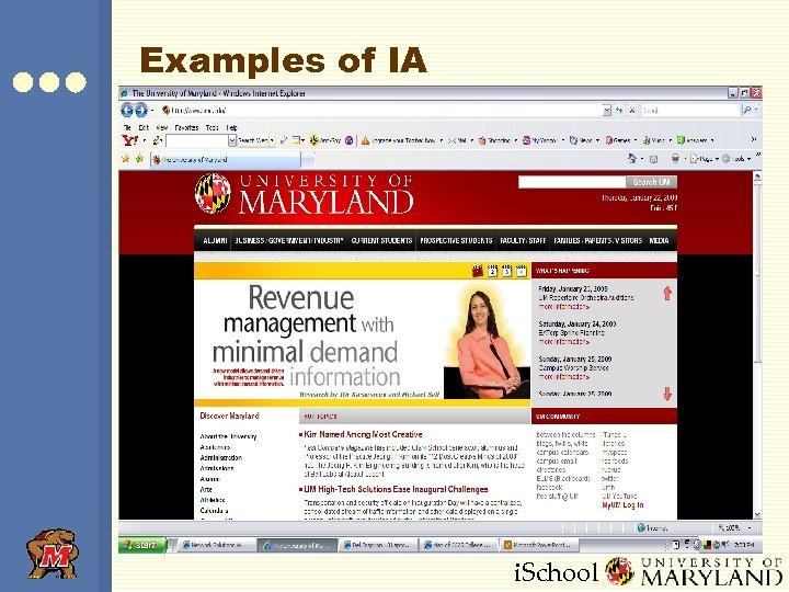Examples of IA i. School